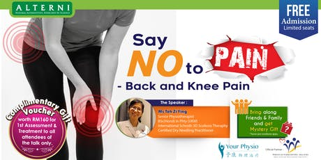 Say No to Pain - Back and Knee Pain tickets