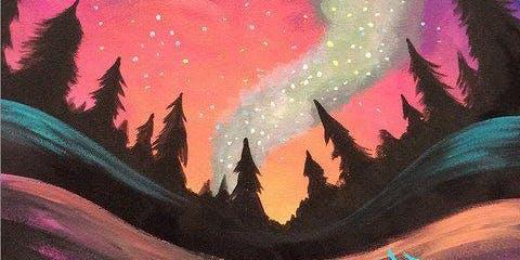 Northern Lights (2hr Paint & Sip) - BYO Food & Drink