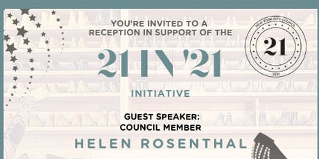 Meet & Greet Reception for 21 in '21 at the Brooklyn Shoe Space tickets