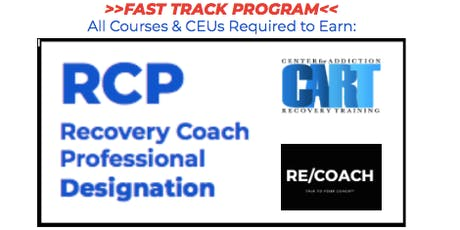 RECOVERY COACH PROFESSIONAL: FAST-TRACK TRAINING PROGRAM  tickets