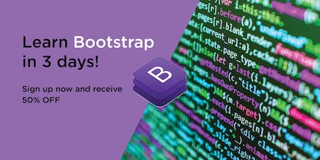 HTML + CSS + Bootstrap in 3 days!! tickets