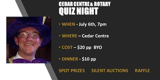 Cedar Centre & Rotary Birkenhead  QUIZ NIGHT