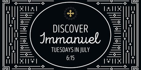 Discover Immanuel tickets