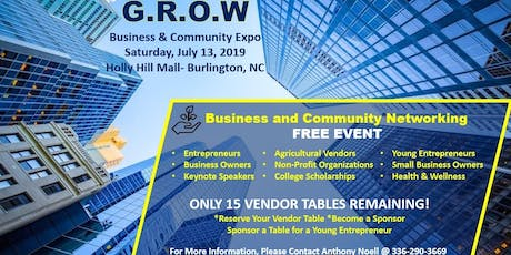 GROW Business & Community Expo (Vendors) tickets