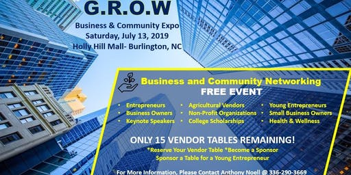 GROW Business & Community Expo (Vendors)