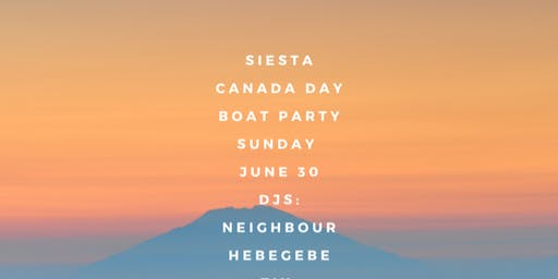 Siesta Canada Day Boat Party