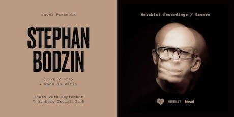 Novel Presents Stephan Bodzin (Live 2 Hrs) + Made in Paris