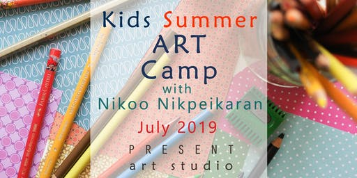 Kids Summer ART Camp in South Vancouver, July 22 - 26, 9:30 am to 12:30 pm