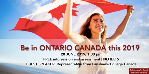 Study, Work and Stay in Ontario, Canada this September 2019 / January 2020!