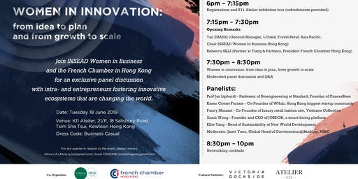Women in Innovation: from Idea to Plan and from Growth to Scale