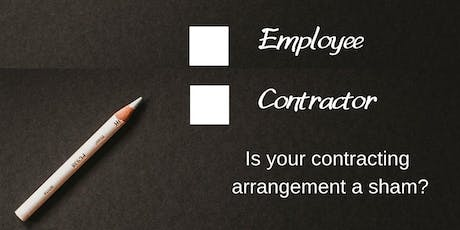 Sham contracting arrangements – is your business at risk? (Gold Coast) tickets