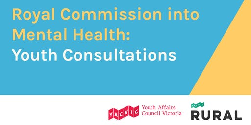Royal Commission into Mental Health - Youth Consultations (Second Session - Warrnambool)