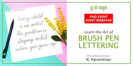Learn The Art of Brush Pen Lettering (TIDAK GRATIS) tickets