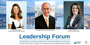 Leadership Forum: Social Risks and Lessons Learnt from...