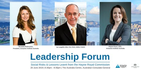 Leadership Forum: Social Risks and Lessons Learnt from the Hayne Royal Commission  tickets