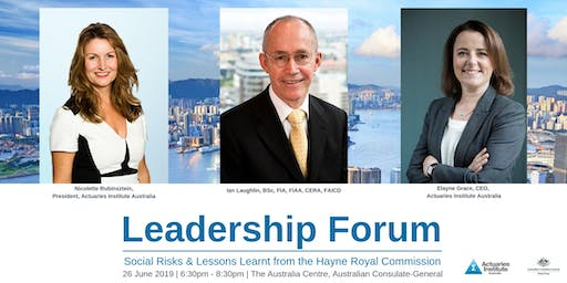 Leadership Forum: Social Risks and Lessons Learnt from the Hayne Royal Commission