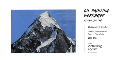 Oil Painting Workshop by Zan - Snow Mountain by palette knife tickets