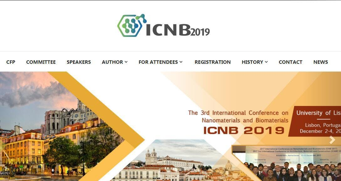 3rd International Conference on Nanomaterials and Biomaterials (ICNB 2019)