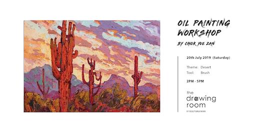 Oil Painting Workshop by Zan - Desert by brush