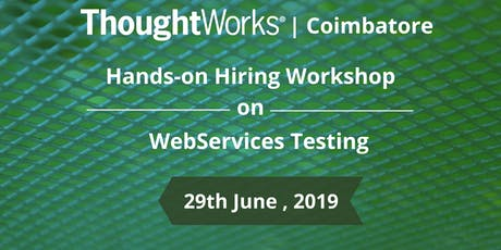 Hiring Workshop on WebServices Testing tickets