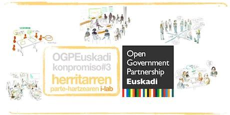 i-Lab-aren Foru Irekia eta Elkarlan eta OpenData Euskadi sari banaketa entradas