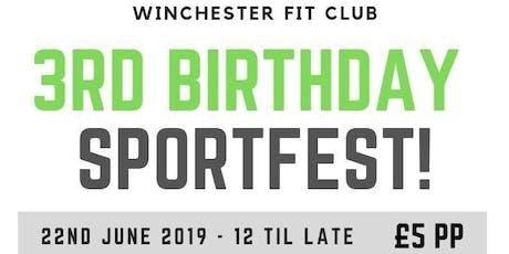 Winchester Fit Club - 3rd Birthday SPORTFEST 2019 tickets