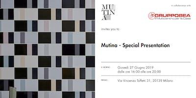 Mutina Special Presentation - GRUPPOBEA Milano