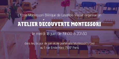 Atelier découverte Montessori billets