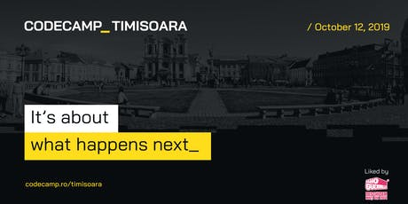 Codecamp Timisoara, 12 Octombrie 2019 tickets