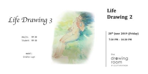 Life Drawing 3 - Model: Gisèle Lupi