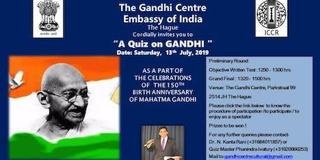 Quiz on Gandhi tickets
