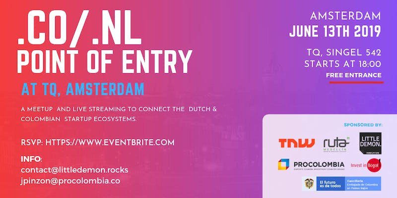.CO/.NL: Connecting Startup Ecosystems - Point of entry Netherlands/Colombi...