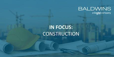 INFOCUS: CONSTRUCTION tickets