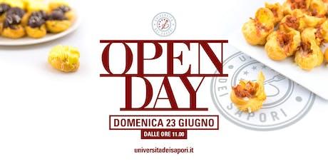 OPEN DAY Università dei Sapori, 23 Giugno.  biglietti