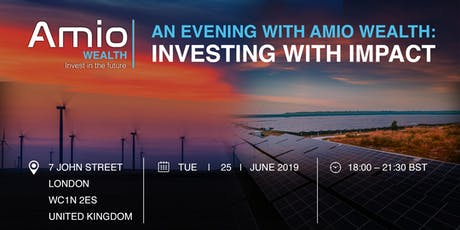 An evening with Amio Wealth: Investing with Impact tickets