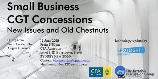 CTDG June 2019 - Small Business CGT Concessions
