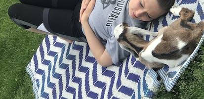 Saturday morning goat yoga