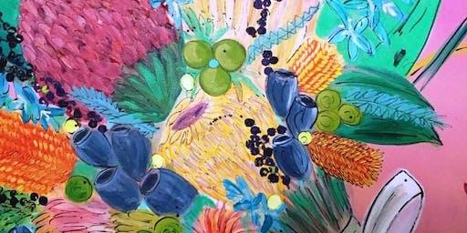 Acrylic Flowerscapes with Faye Tsatsakis