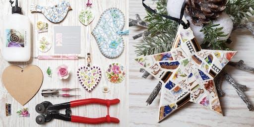 Christmas Decorations - festive mosaics
