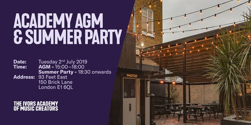 Academy AGM & Summer Party