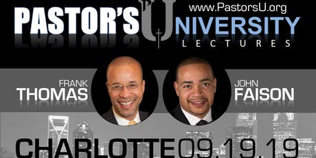 Pastor's U Lectures Charlotte 2019 tickets