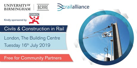 Rail Alliance Community event: Civils & Construction in Rail tickets