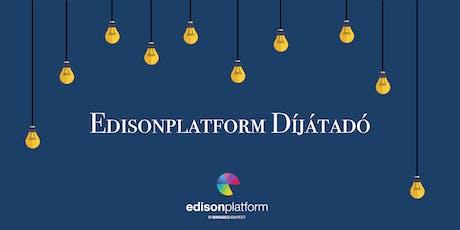 Edisonplatform Díjátadó tickets