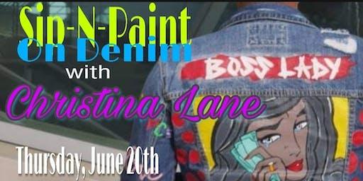 Sip & Paint On Denim with Christina Lane