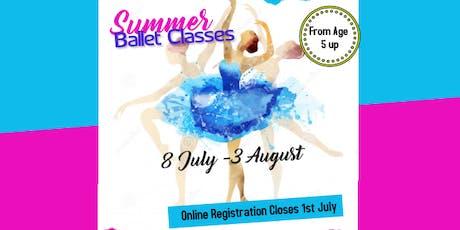 SUMMER BALLET CLASSES tickets