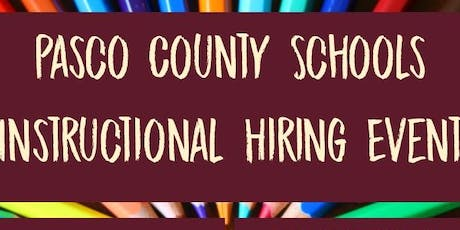 Pasco County Schools Instructional Hiring Event tickets