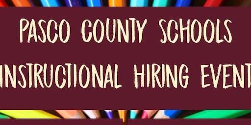 Pasco County Schools Instructional Hiring Event