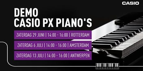 Demo Casio PX piano's tickets