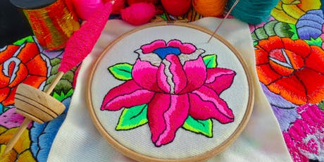 Learn hand embroidery & stitch an 'Andean Rose'  tickets
