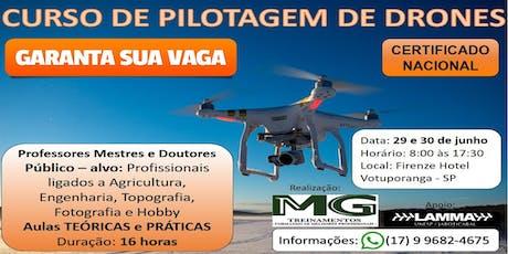 Curso de Pilotagem de Drones ingressos